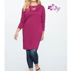 Eloquii knotted back, purple dress or tunic 14W